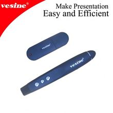 Wireless Presenter with Page Up/Down Function, Nano USB Detachable Receiver, Pen Style, and Red Laser Pointer