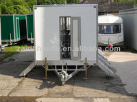 Trailer ramp springs, Portable Toilet, Movable trailer Toilet