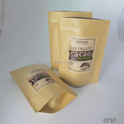 foil lined stand up kraft paper coffee food packaging bags