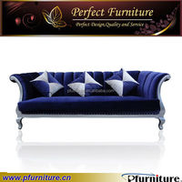 2014 modern hotel upholstered value city sofa fabric purple velvet PFS41031