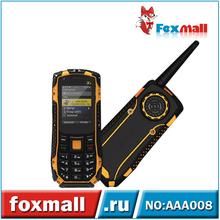 2.0 Inch Rugged Phones Card Single Mobile Phones MTK6252 Waterproof Radio Walkie Talkie Cell Phone Bluetooth 2.1 AAA008