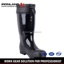 China professional supplier hot selling Cotton linning cheap rubber boots