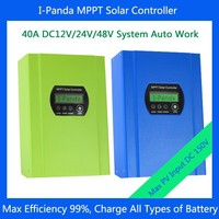 40A DC12V 24V 48V auto work, MPPT solar charge controller, LCD solar regulator MPPT 40