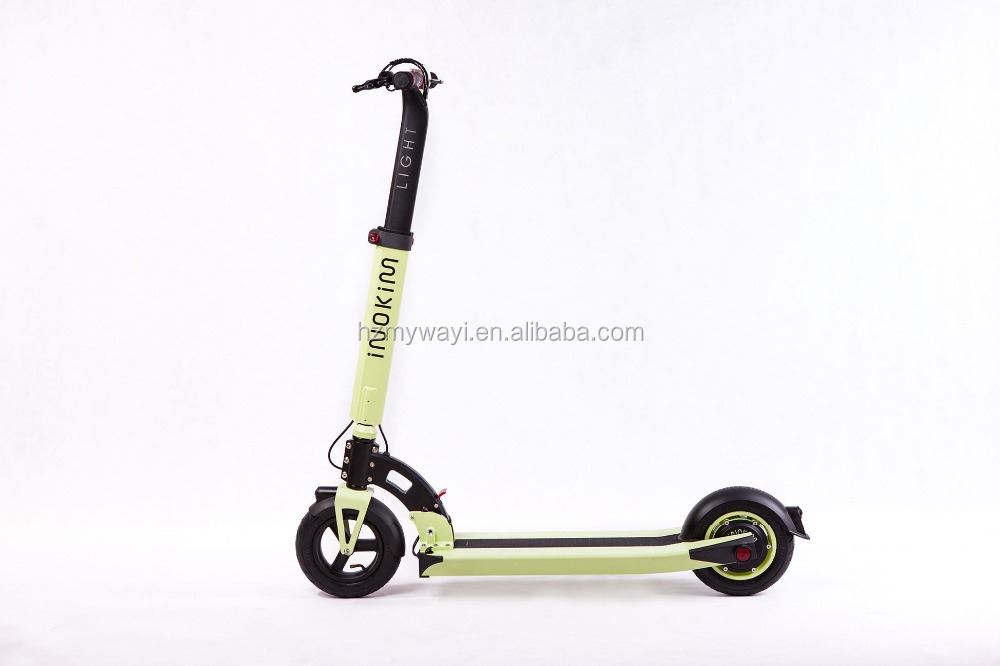 The newest green color folding electric scooter for adult for Folding motorized scooter for adults