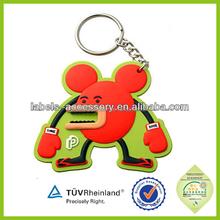 Low price Free Sample fancy 3d Soft Pvc Keychain Custom made