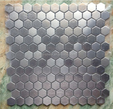 Stainless steel 304 hexagon metal mosaic tile for wall and flooring mosaic