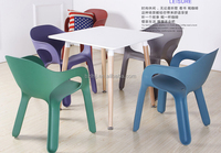 New design colored garden furniture outdoor plastic BBQ chair