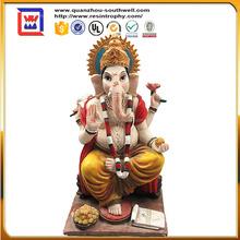 religious india god mascot statue and hindu god statue figurine and elephant ganesh statue