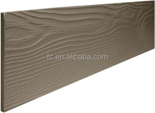 Prefinished Wood Grain Textured Fiber Cement Lap Siding 15 Year Paint Warranty