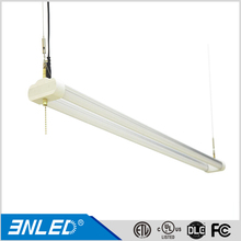 SHOP/32/W 4 Foot 48 Watt 100-277 Volt LED Work Shop Light Fixture with Pull Chain 5 Foot Cord, White Finish