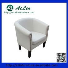 Wooden PU Leather Modern Cheap Black Tub Chair AL02