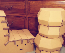 Cute cardboard desk and chairs for kids children indoor home factory directly wholesales
