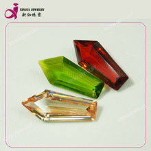 Wholesale loose colored special pen shape cubic zirconia cz gemstone