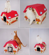 Cat play house cardboard cat scratcher house for pets cat animal play fun indoor furniture