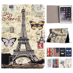Flipstand Leather Case Colorful Printing Standing Cover For iPad Mini 4, For iPad mini case