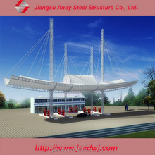 Membrane Steel Structure with Gas Station roof Steel Structure For sale