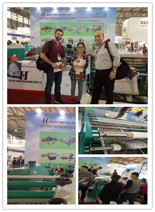 Qx g b wide roller style sublimation printing heat for T shirt printing exhibition