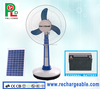 New Table Fan Rechargeable Standing Fan Portable Fan with Bright LED Light Solar Panel Made in China PLD-33T