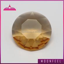 Diamond cut champagne perlas de vidrio