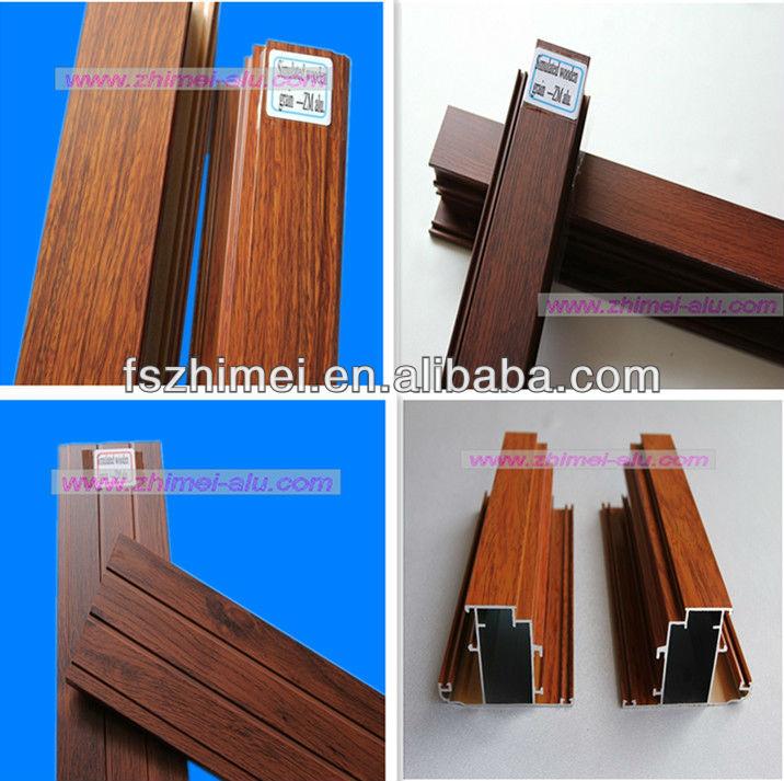 Perfil de aluminio de madera del color materiales para for Colores de perfiles de aluminio