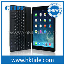 Gtide for ipad air aluminum cover magnetic clip bluetooth keyboard cheap wireless accessories