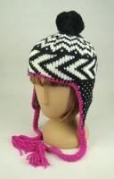 2015 Girls Knitted Earflap Hat