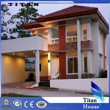 Luxury Duplex Titan Prefab House with Ferro Cement and Glass Panel
