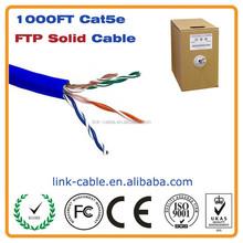 1000ft Cat5e 350 MHz Shielded Solid Plenum Bulk Ethernet Cable