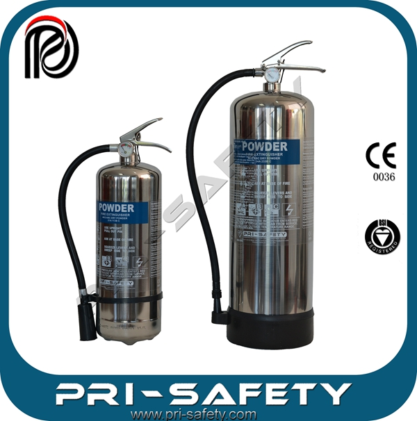 high quality CE EN3 Stainless Steel powder fire extinguisher