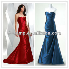 OC-031 Fancy ruchd fitted bodice long cheap sexy real pictures of party dresses