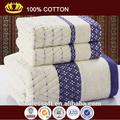 2015ผู้จัดจำหน่ายในประเทศจีนผ้าฝ้าย100%ผ้าขนหนูใบหน้าหรูหราผ้าขนหนูอาบน้ำที่ระลึกชุดผ้าขนหนู