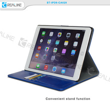 high quality portable leather case for ipad 6,with 50pcs magnets inside stronger stick case for ipad 6