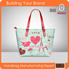 YL-001 cotton canvas tote bag, with printting loves pattern for young lady, teenager