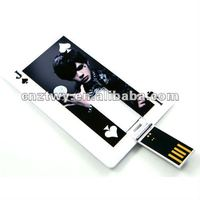 Two sides your logo credit card usb flash memory disk