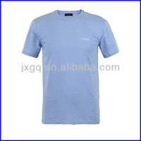 Wholesale cheap round neck embroidery cotton blank t-shirt