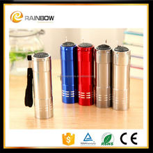 Promotional custom 9 led oxygen torch with laser logo