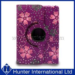 Floral Revolving Flat Computer Cover For iPad Mini