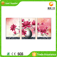 Beauiful wholesale price modern acrylic painting diy diamond 3d group painting flower