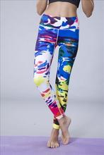 wholesale polyester/spandex top quality gym wear women sublimation tights pants