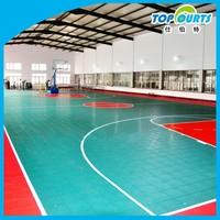 Indoor basketball sports floor