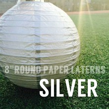 silver paper lantern for Wedding Christmas Baby Shower Party Shopping Mall Decoration