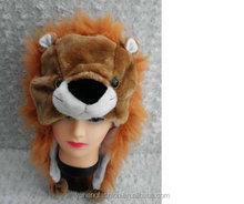 lion hat faux fur animal hat