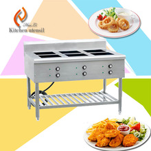 6 head burn 3.5kw/head 380V the latest design ceramics glass stainless steel commercial induction cooker free standing