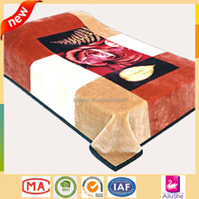 Good Quality customed christmas bed sheets cheap wholesale 2 ply korean mink blanket
