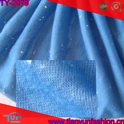 white dobby blue stripe knitted polyester and rayon fabric design
