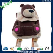 Hot sale fashion plush teddy bear backpack for children
