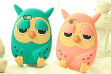 3D Cartoon animals Korea cute Owl soft silicone case For iphone 6 4.7 Inch 6s