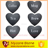 Factory directly natural heart beer and tea slate coasters for sale