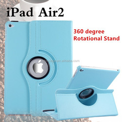 360 Degree Rotatable Smart Case for Ipad Air 2/for Ipad 6 Stand Cover ,PU Leather Tablet Case