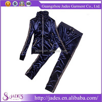 New design women set, Ladies outdoor track suit, Women velvet tracksuit sportswear